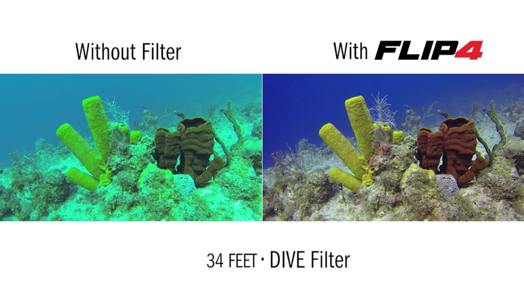 ZOOM IMAGES FLIP4 One Filter Kit with DIVE Filter