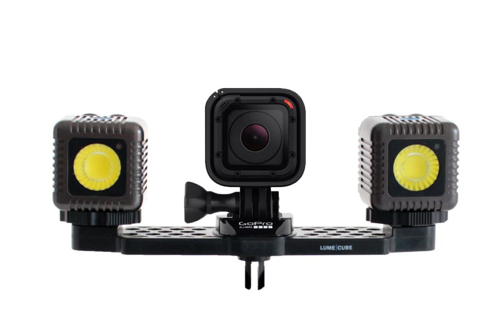 DUAL LUME CUBE PACK with a kit for GoPro Session