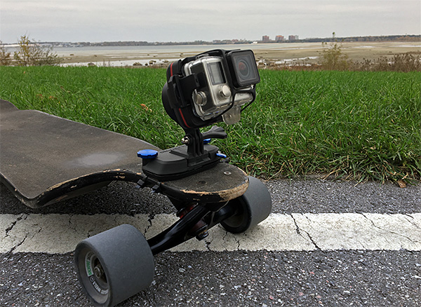 Wenpod X1 on a Longboard