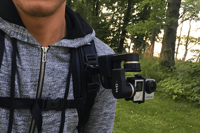Feiyu Tech WG2 backpack strap mount