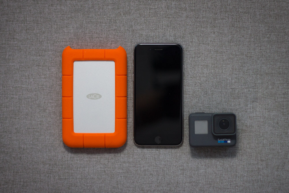 LaCie Rugged USB-C size