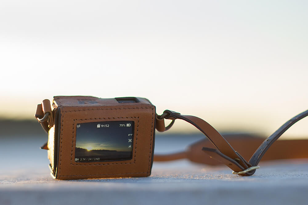New Woodman GoPro leather case