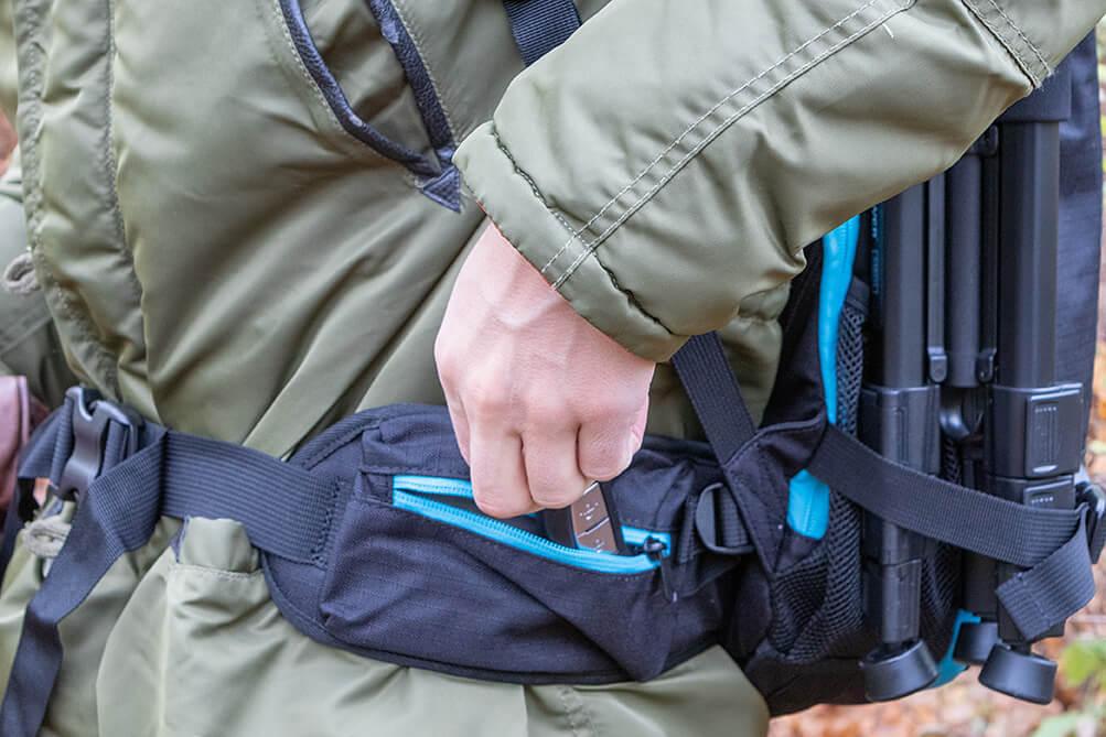 RADPAK waist strap pocket