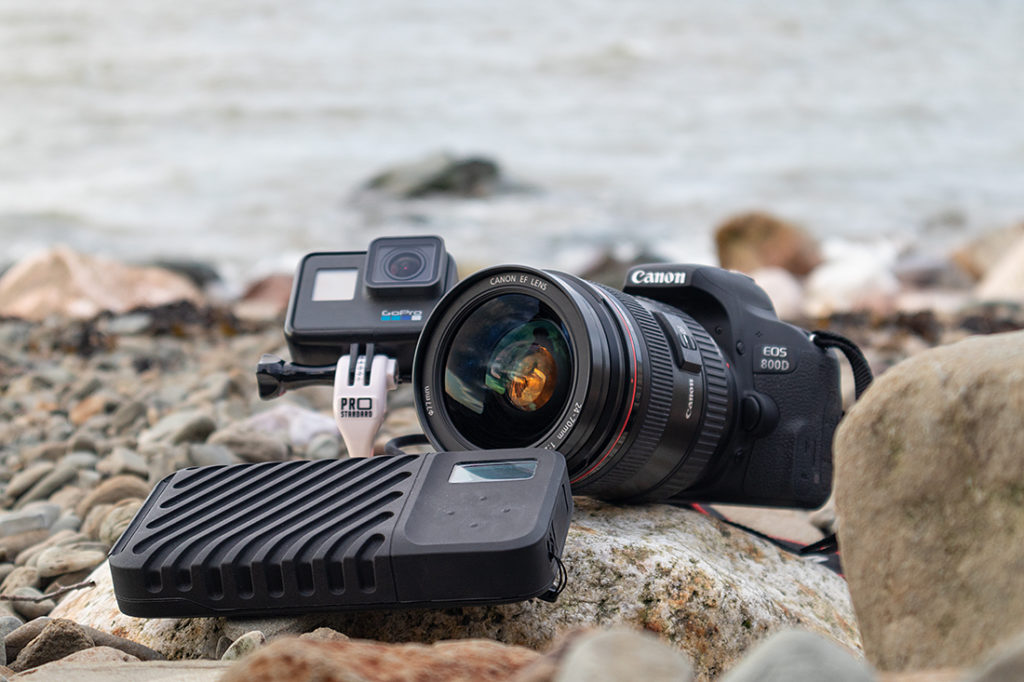Gnarbox 2.0 SSD with Canon EOS and GoPro