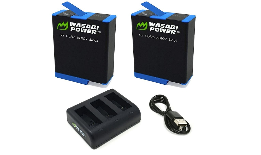 Wasabi Power HERO9 Battery 2-Pack and USB Triple Charger