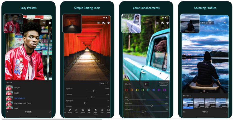 Adobe lightroom mobile is one of the Best GoPro Editing Software